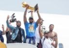 Pouca gente reparou, mas os Cavs trollaram os Warriors em anel de campeão - Jason Miller/Getty Images/AFP