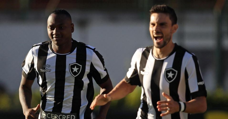 Sassá marca para o Botafogo contra o Santa Cruz
