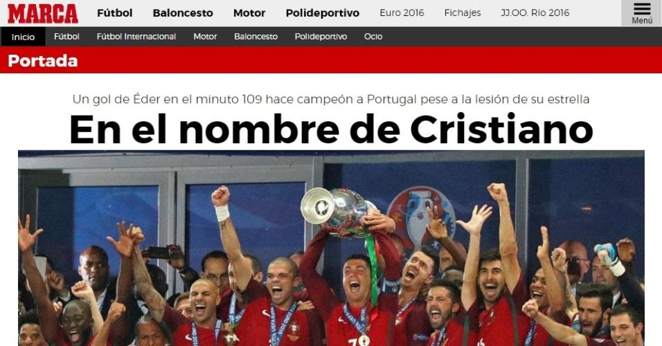 Capa do jornal Marca após a vitória de Portugal na Euro 2016