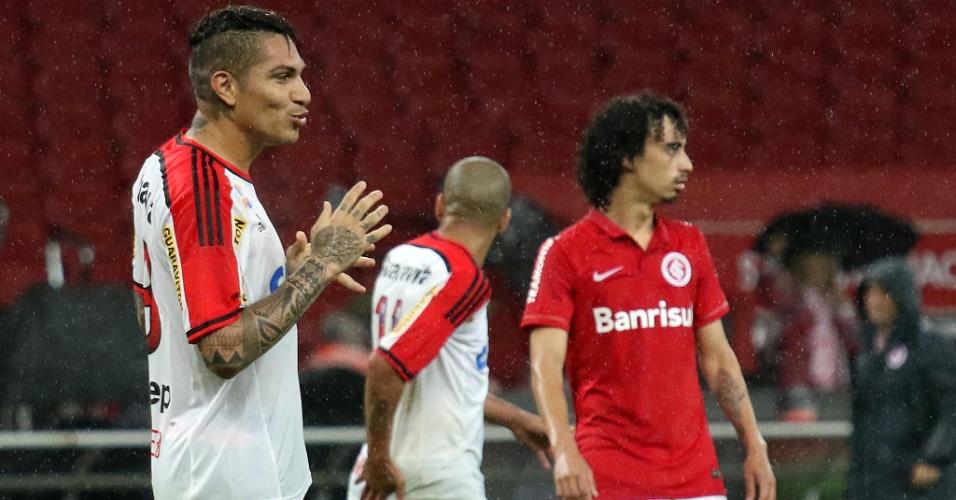 Guerrero comandou o Flamengo na vitória por 2 a 1 sobre o Internacional