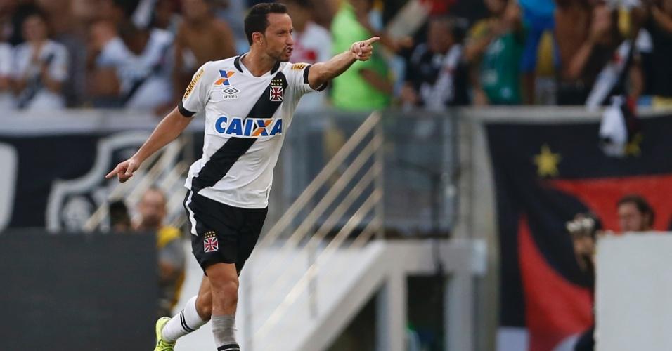 Nenê, do Vasco, comemora gol da virada contra o Flamengo
