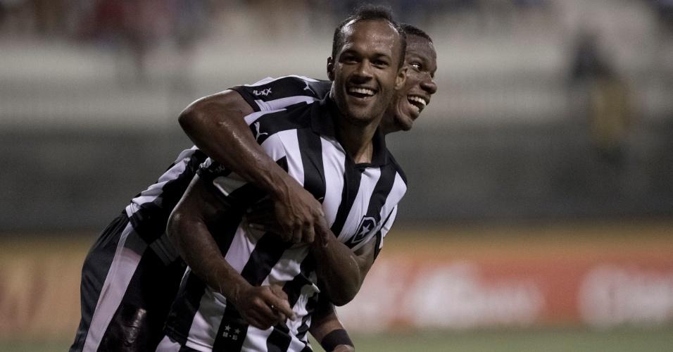 Bruno Silva comemora gol marcado para o Botafogo contra o Madureira