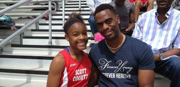 Tyson com a sua filha Trinity