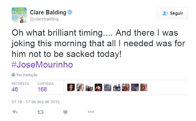 Houve até lamentação de uma jornalista, que havia feito entrevista com Mourinho para exibir nesta quinta-feira.