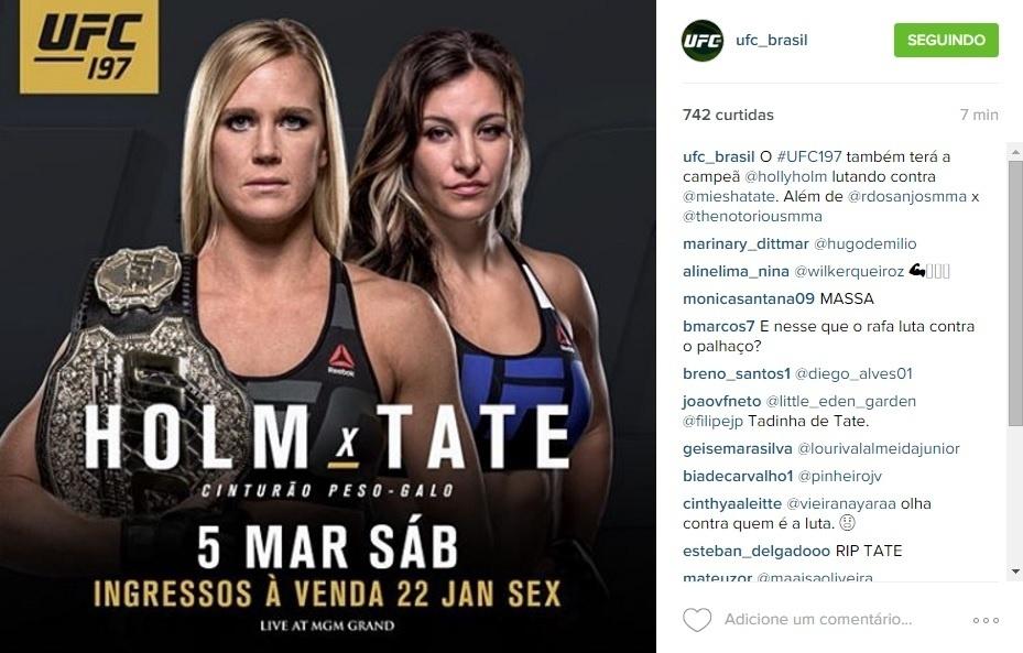 Holly Holm irá enfrentar Miesha Tate pelo cinturão dos galos do UFC