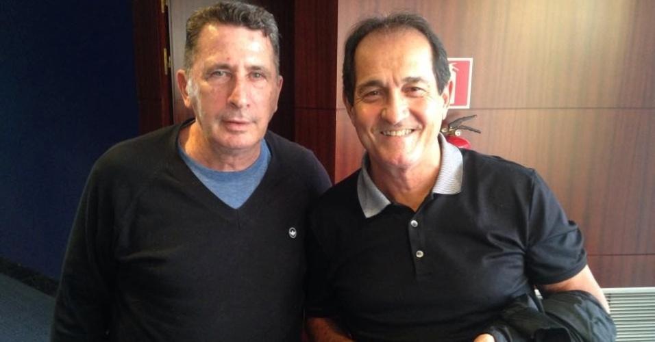 Muricy Ramalho e Tata estão na Espanha para assistir ao Barça a convite do pai de Neymar