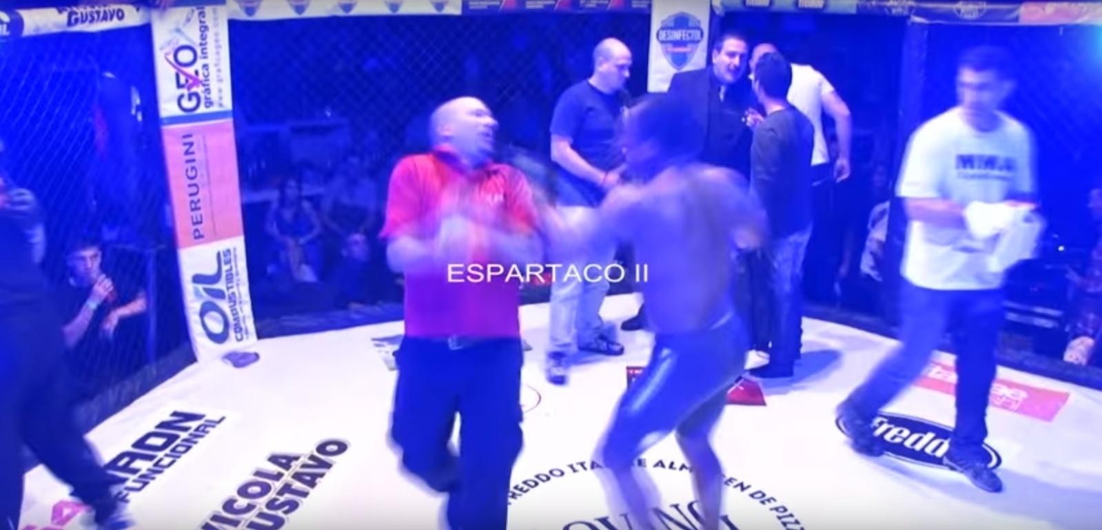 Lutador acerta dois socos em árbitro de MMA