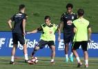 Brasil faz treino com 12 jogadores, e Dunga diz que cansaço pode mudar time
