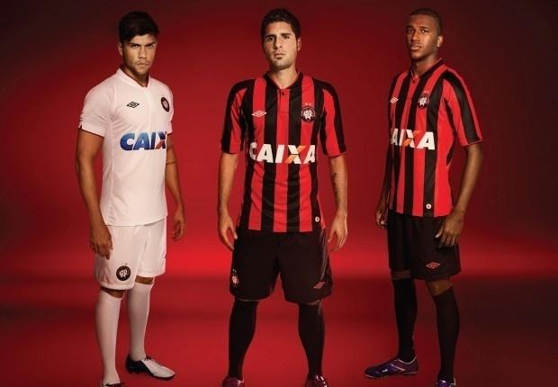 Atlético-PR apresenta novo uniforme que será utilizado na Série A do Brasileiro