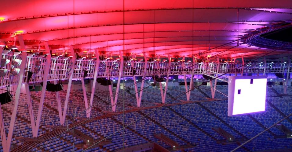 Estádio do Maracanã ganha nova iluminação decorativa para ser utilizada em eventos e fora dos horários de jogos de futebol
