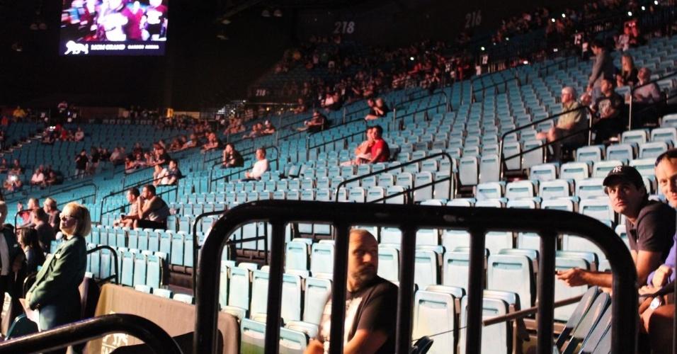 25.mai.2013 - Arena em Las Vegas está vazia durante o card preliminar do UFC 160