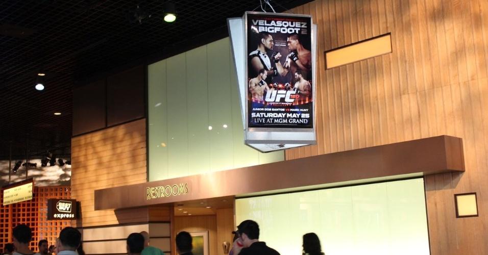 25.mai.2013 - MGM Grand Garden vive expectativa da disputa do cinturão dos pesados entre Pezão e Velasquez
