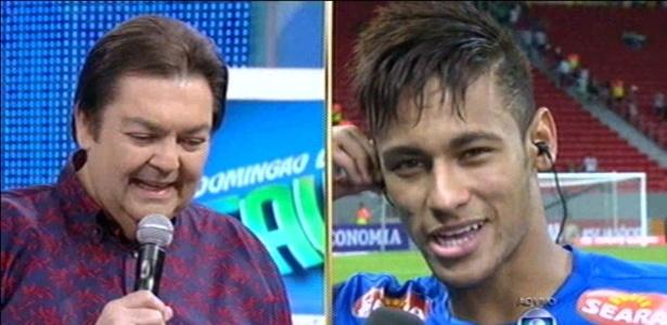 Faustão cometeu gafes ao entrevistar Neymar