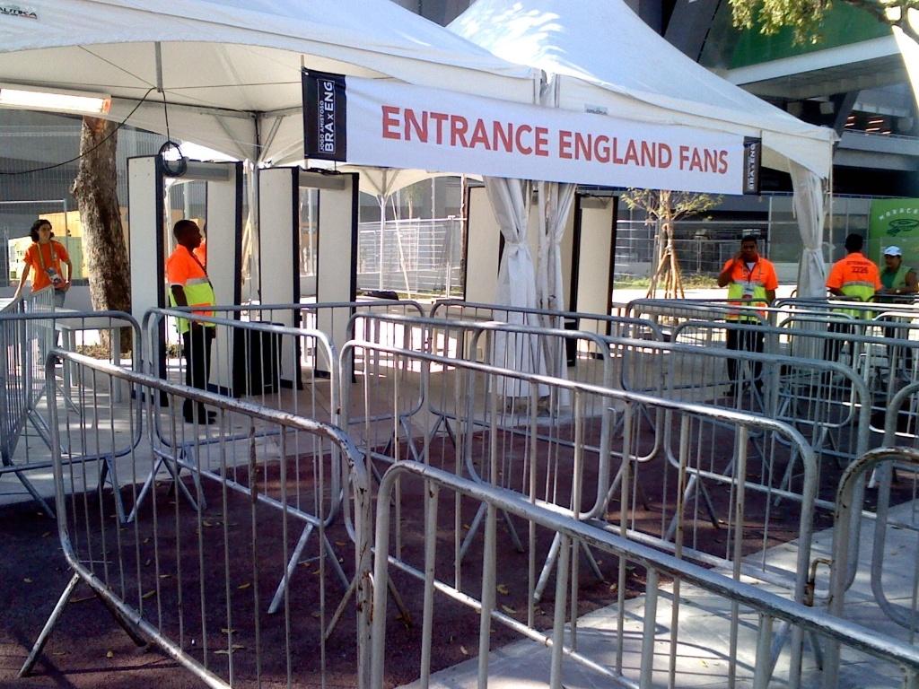 Área exclusiva para torcedores da Inglaterra