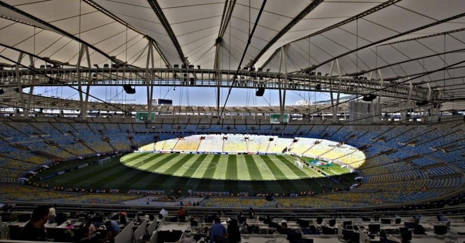Vista interna do Maracanã; governador do Rio disse que estádio está perfeitamente seguro