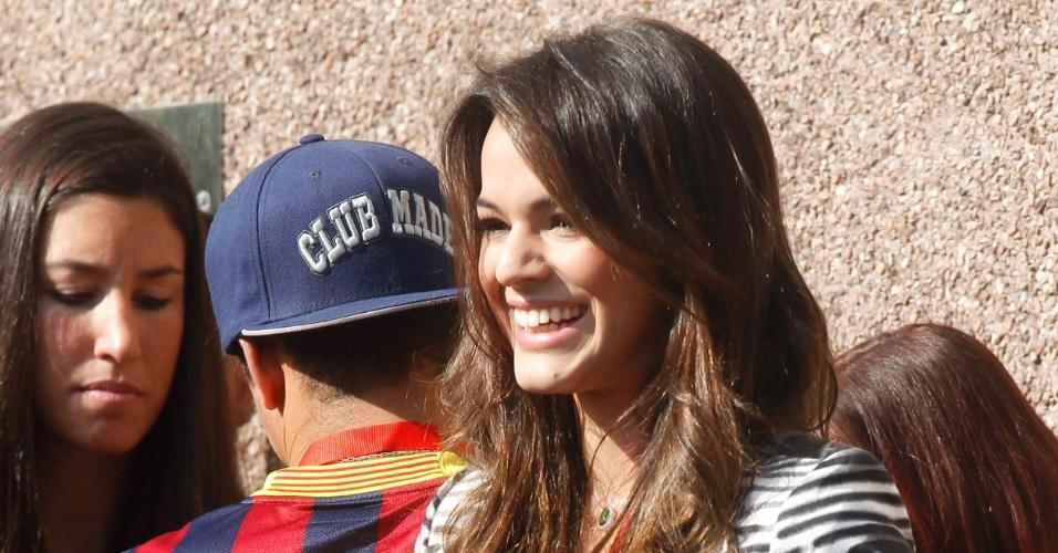 03.jun.2013 - Bruna Marquezine foi ao Camp Nou para acompanhar a apresentação de Neymar ao Barcelona