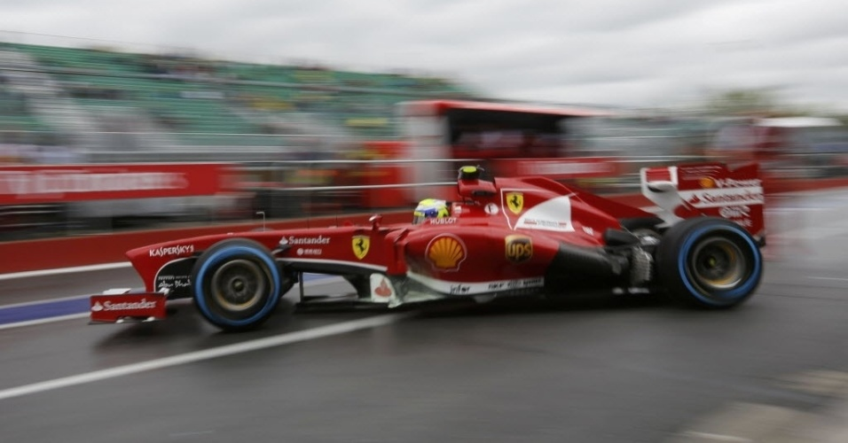 Massa entrou no começo do treino, ainda com pista molhada. O brasileiro terminou em 11º