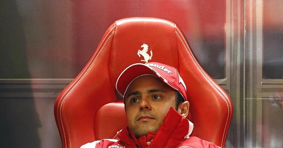 Massa tinha a melhor volta no treino livre a 3 min do fim, mas viu seus concorrentes fazerem boas marcas no minuto final.