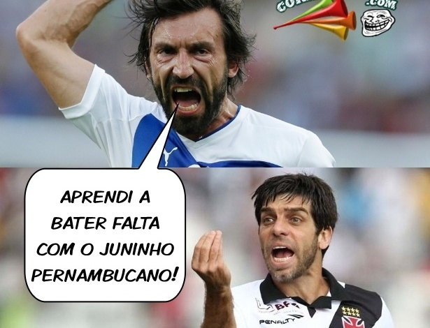 Corneta FC: Fã de Juninho, Pirlo herda má fama de vascaínos