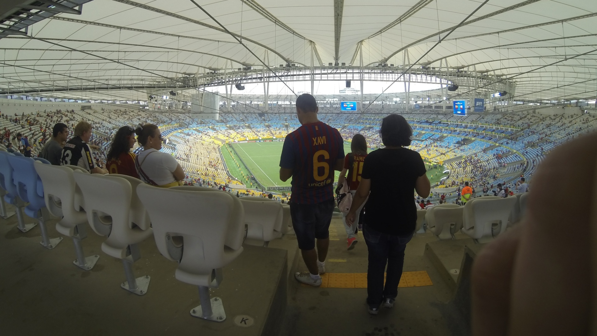 20.junho.2013 - Instalações dentro do estádio do Maracanã