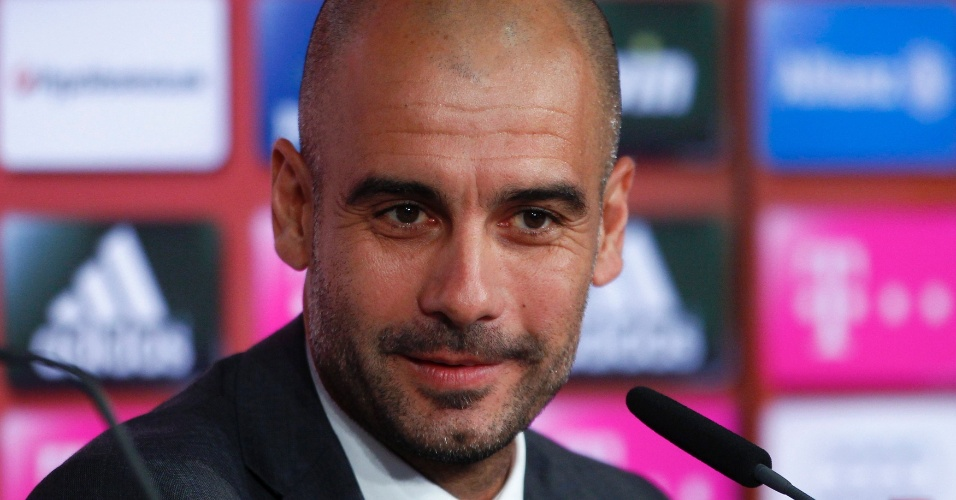 24.jun.2013 - Josep Guardiola foi apresentado oficialmente como treinador do Bayern de Munique
