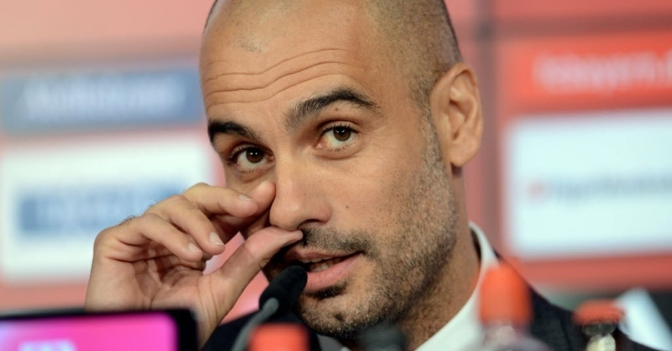 24.jun.2013 - Josep Guardiola foi apresentado oficialmente pelo Bayern de Munique