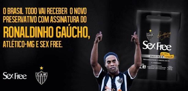 Ronaldinho Gaúcho lança preservativo com sua marca e do Atlético-MG