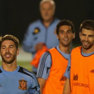 Piqué e S. Ramos