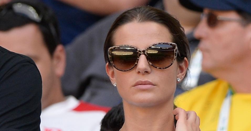 Cristina de Pin, namorada de Montolivo, durante a derrota da Itália para a Espanha na semifinal
