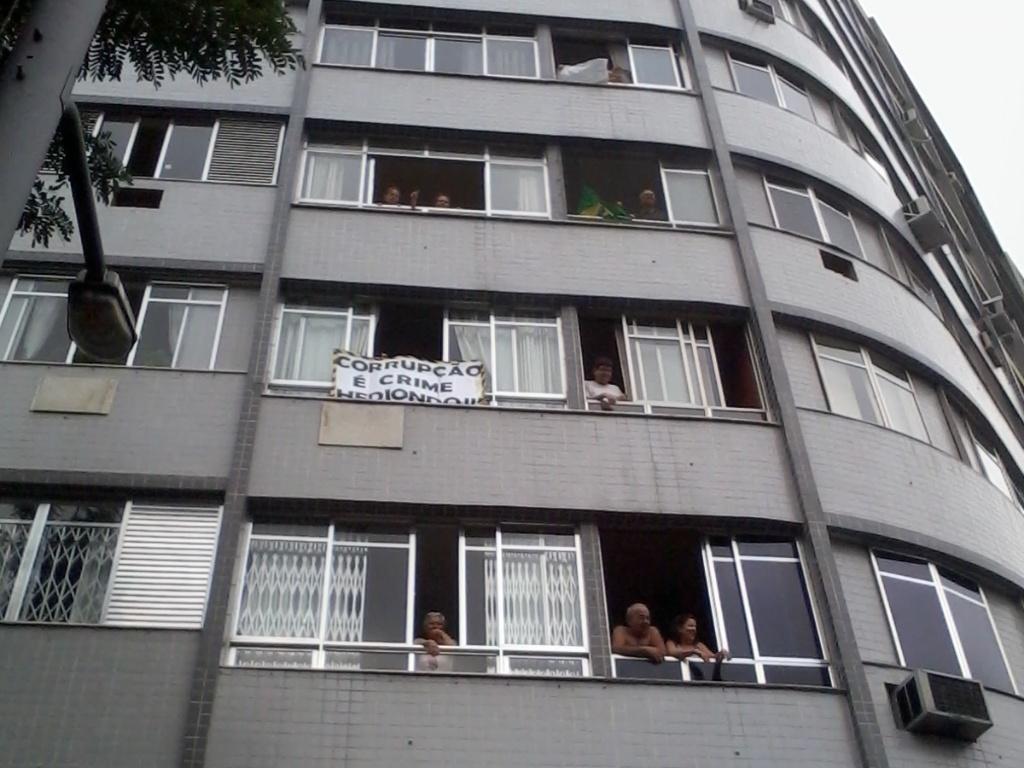 Moradores apoiam manifestação