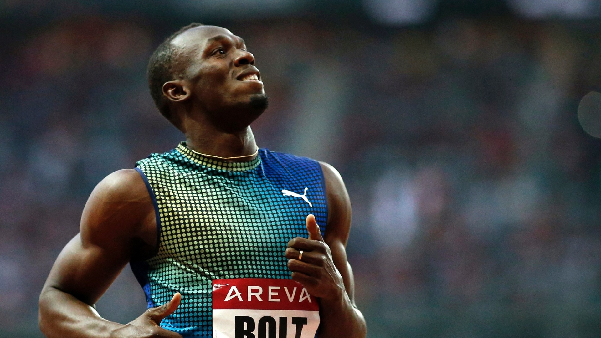 06.jun.2013 - Usain Bolt vence 200 m rasos em Paris