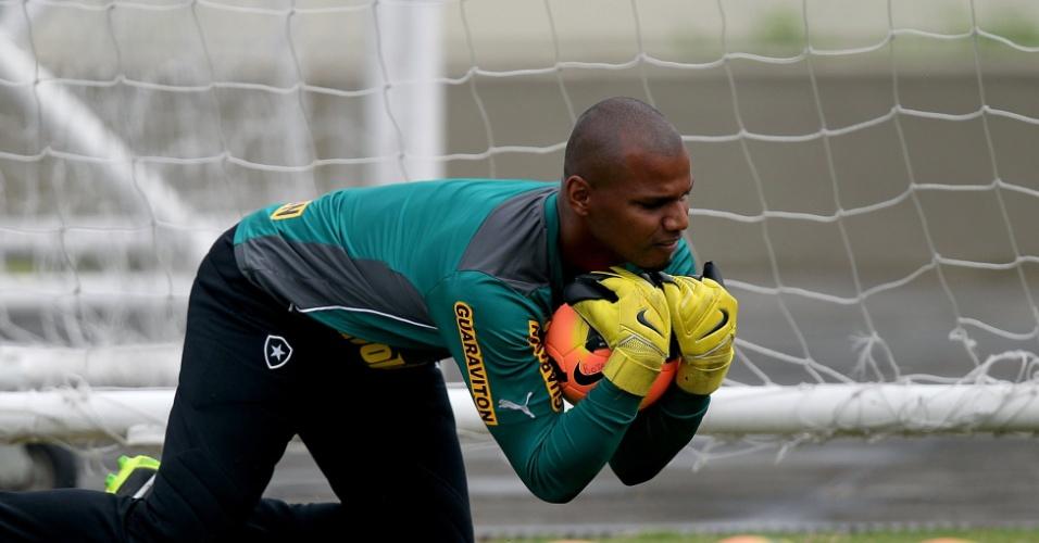 Jefferson treina pelo Botafogo