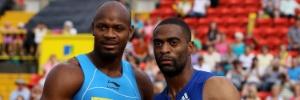 Atletismo: Rivais de Bolt, Tyson Gay (dir) e Asafa Powell são pegos no doping e estão fora do Mundial
