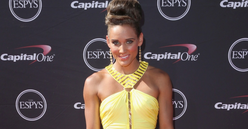 17.jul.2013 - Corredora americana Lolo Jones comparece à premiação Espy Awards