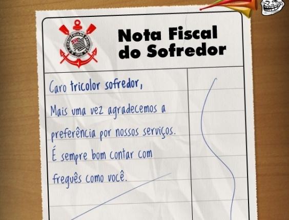 Corneta FC: Compartilhe a nota fiscal do tricolor sofredor