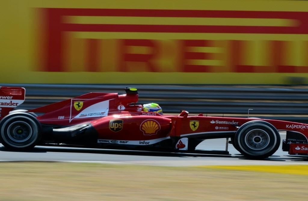 Felipe Massa durante treino oficial no GP húngaro