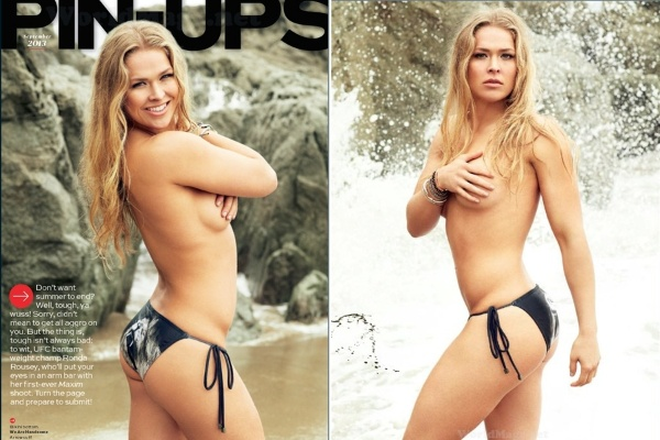 Ronda Rousey Posa De Topless Para Revista Masculina Dos Eua