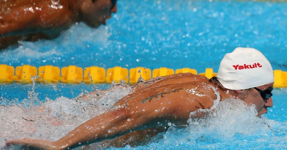 31.jul.2013 - 31.jul.2013 - Thiago Pereira avançou à final dos 200 m medley no Mundial de Barcelona