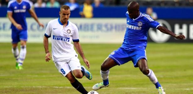 Volante Ramires participou do amistoso do Chelsea contra a Inter de Milão