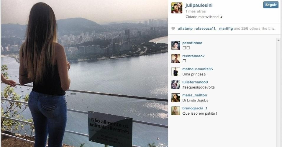 A namorada de Neilton, Juliana, publicou no Instagram foto no Rio de Janeiro