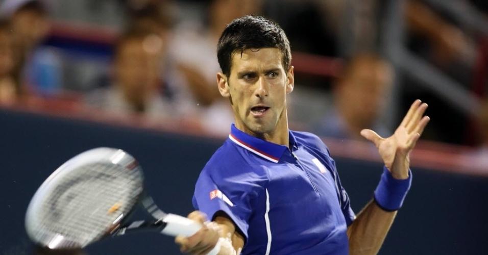 Djokovic estreou com facilidade no torneio de Montreal