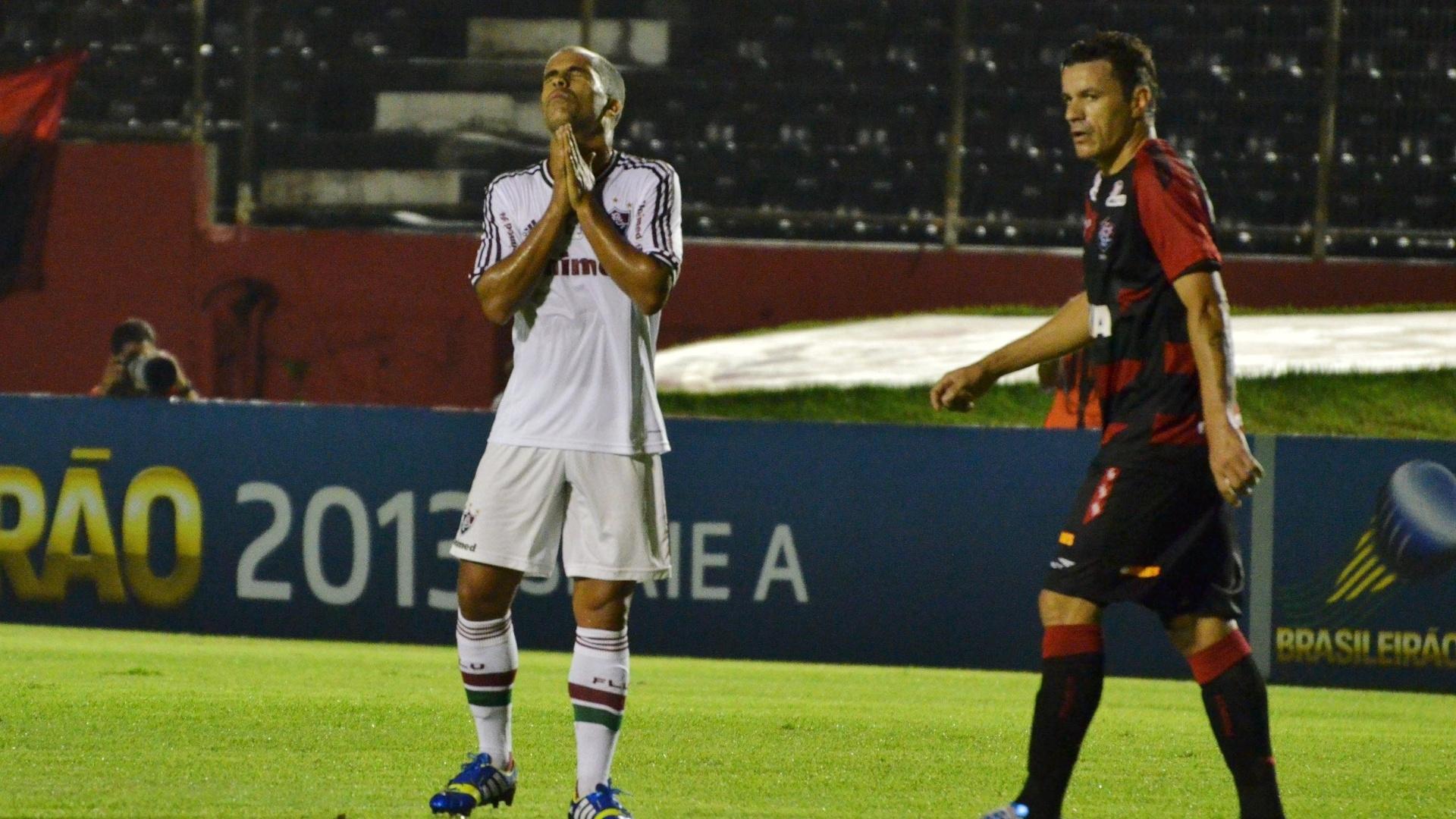 07.08.13 - Felipe lamenta chance desperdiçada pelo Fluminense contra o Vitória pelo Brasileirão
