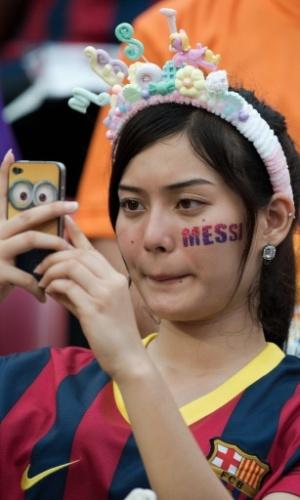 Tailandesas prestigiam excursão do Barcelona no país