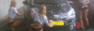 Blog da redação: Trio de loiras lava carro de jogador de time holandês como prêmio por sua boa atuação