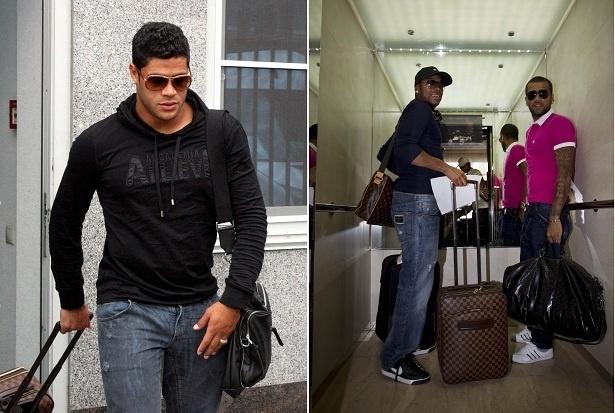 Hulk, Robinho e Daniel Alves: jeans ousados, malas Louis Vuitton, joias e óculos escuros