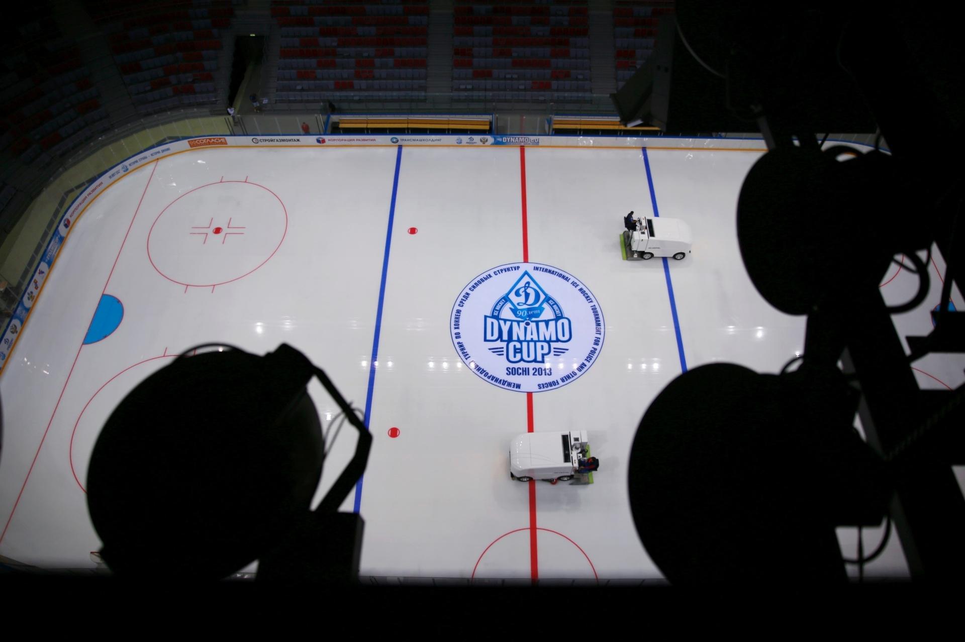 20.ago.2013 - Assim como a Shayba Arena, o Bolshoy Ice Dome também vai receber jogos de hóquei na Olimpíada de inverno de Sochi em 2014. O ginásio é um dos principais locais de competição dos Jogos