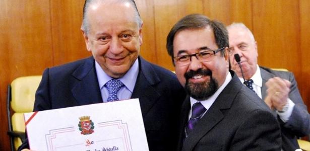 Kalil Rocha Abdalla e Marco Aurélio Cunha, da oposição do São Paulo