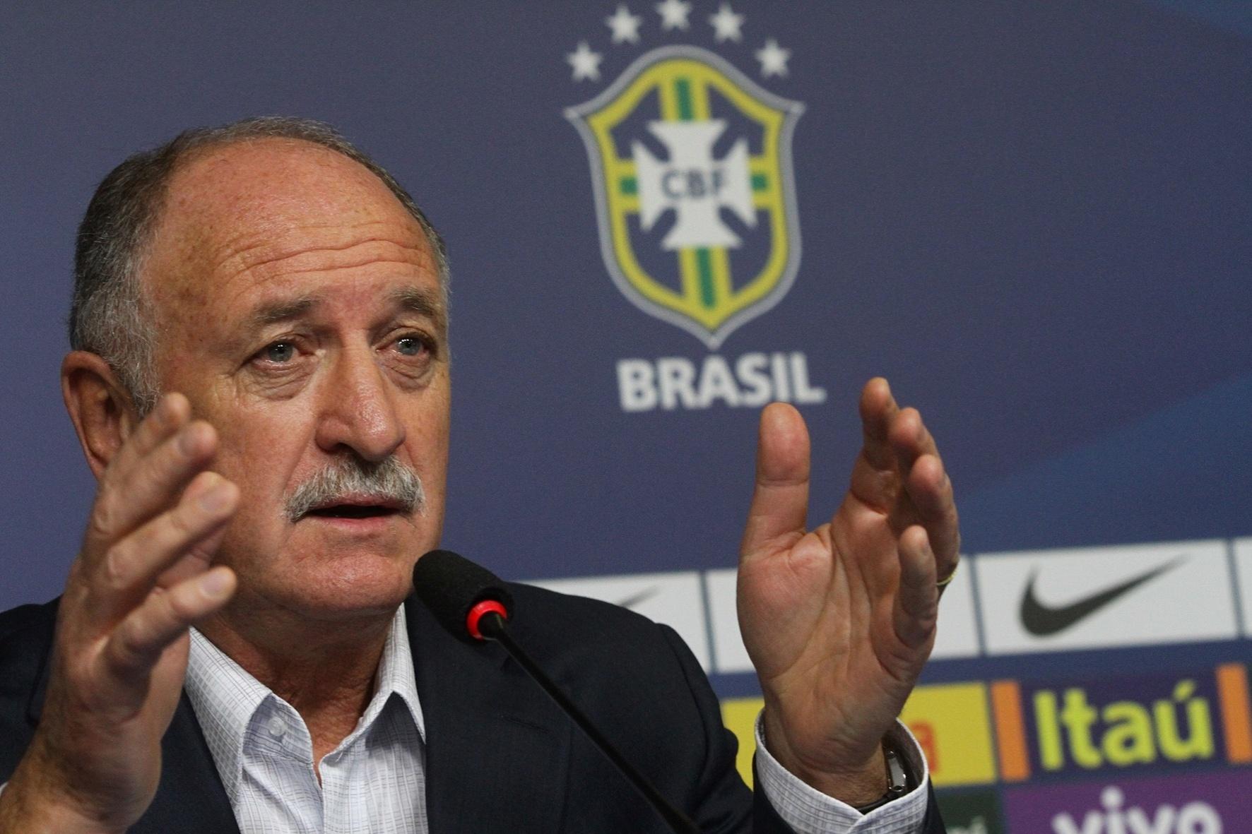 Luiz Felipe Scolari em entrevista coletiva nesta terça (21/08/2013)