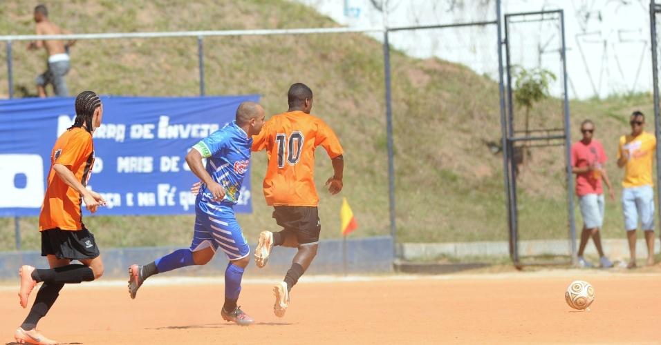 Panela Problema (laranja) venceu o SAAD (azul) por 1 a 0