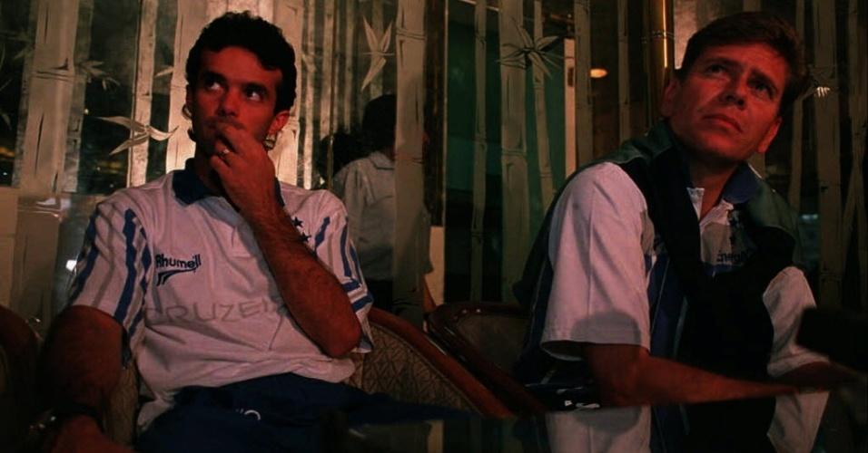 Palhinha e Paulo Autuori, em concentração do Cruzeiro em 1997